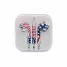 Handsfree 3.5 mm flag of usa