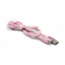 Data kabl Fashion micro USB roze 1m